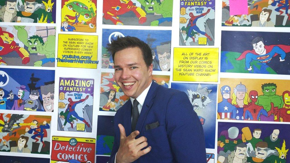 Sean Ward in the Studio Art Wall