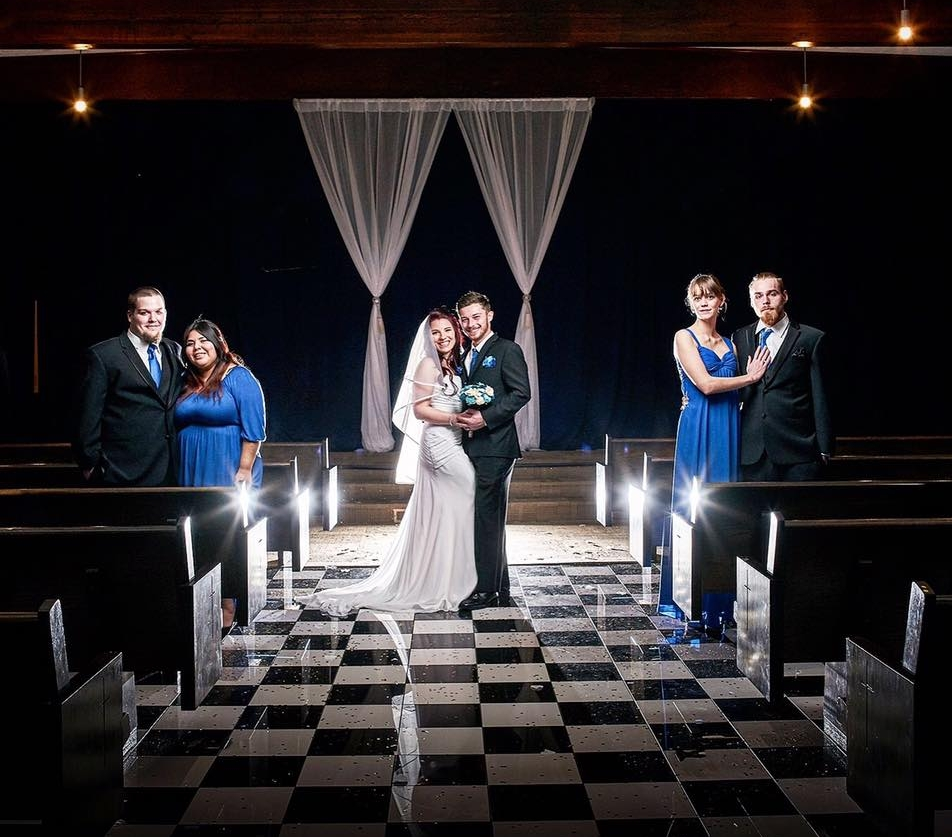 Our exclusive  ceremony room  available for on-site weddings. Photo by Lavender Boquet Photography