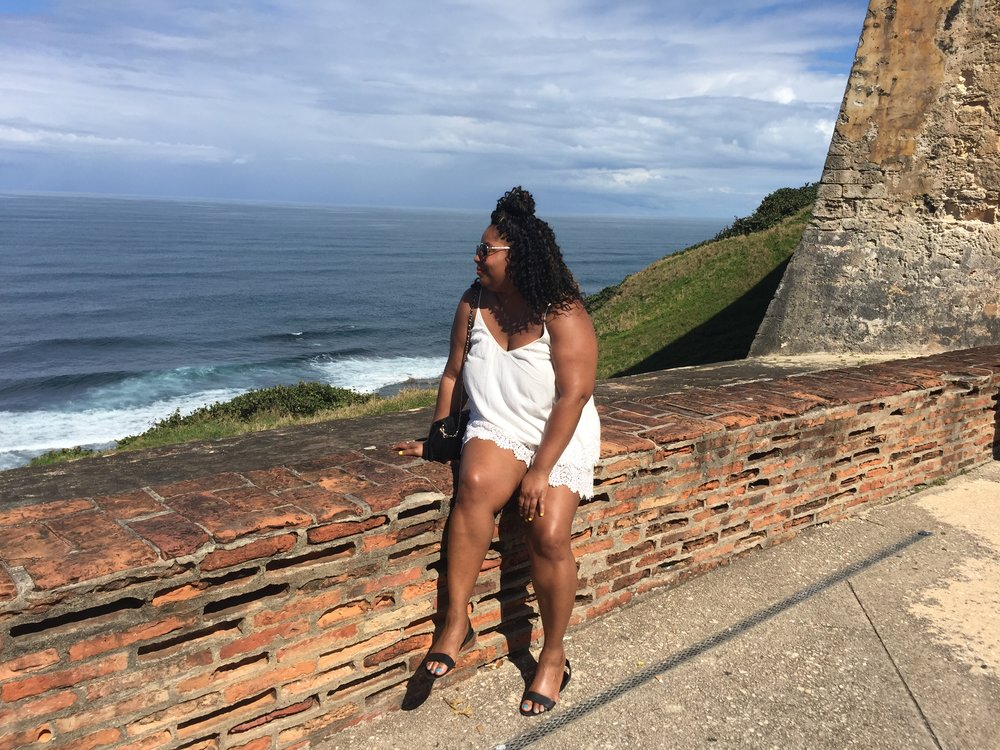 overlooking the ocean at the forts