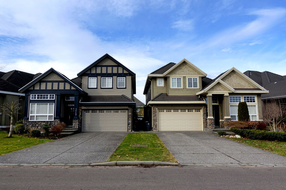 Single family homes in the exclusive Rosemary Heights neighbourhood of South Surrey
