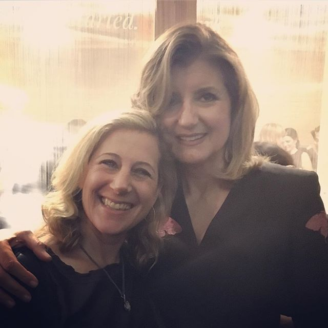 Vida's CEO and co-founder Stephanie Tilenius and Thrive Global CEO and founder Arianna Huffington at the Thrive Global pop up store in SoHo NYC. We are so excited to partner with them on their mission to enable business leaders to thrive! @ariannahuff @thrive