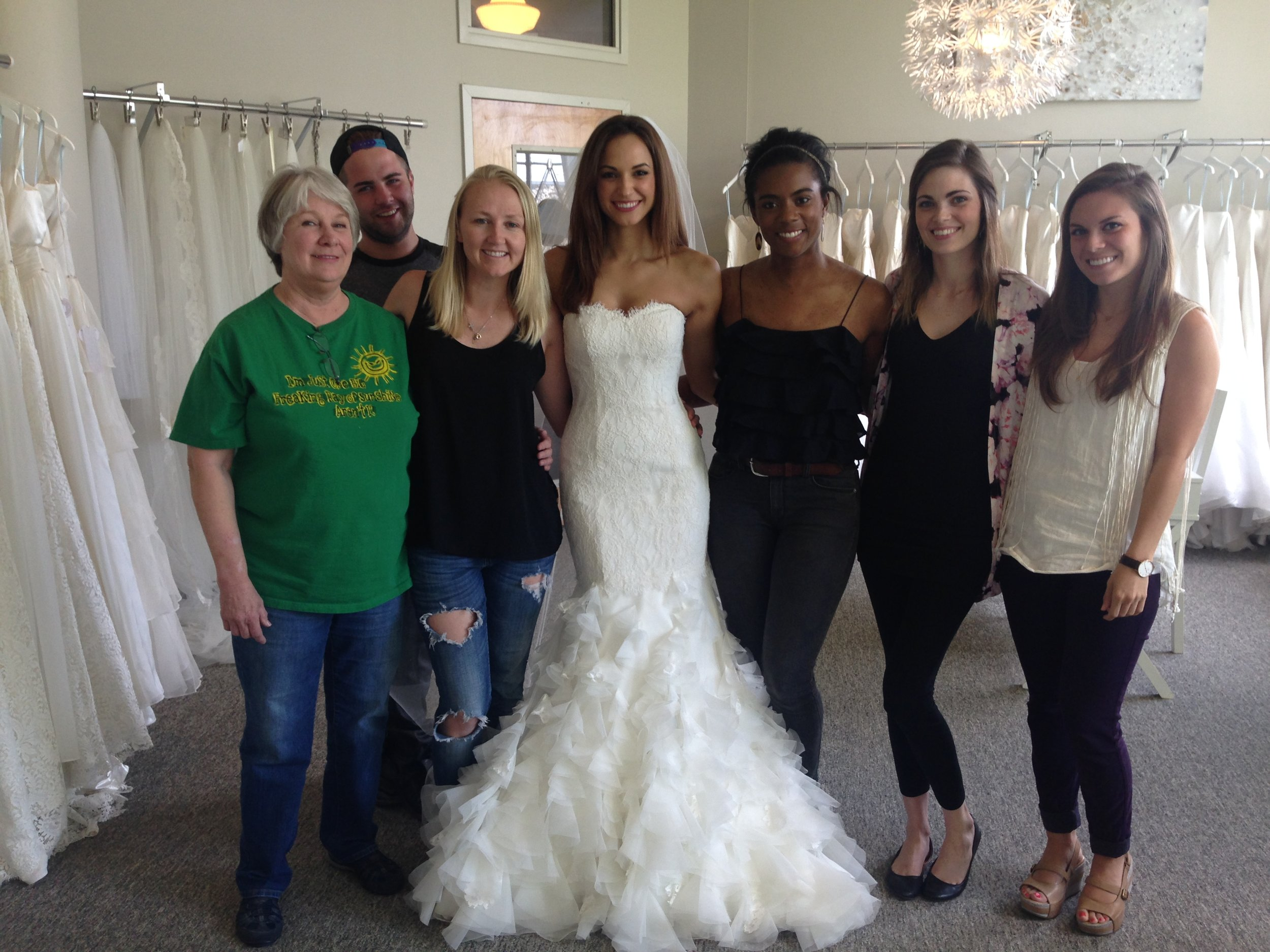 The day Heidi and her team (you may recognize from TLC) finished my dress