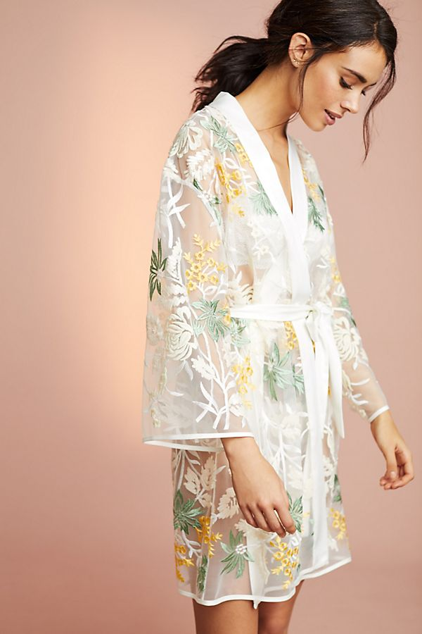 Tropical Embroidered Robe - Anthropologie, shop here.