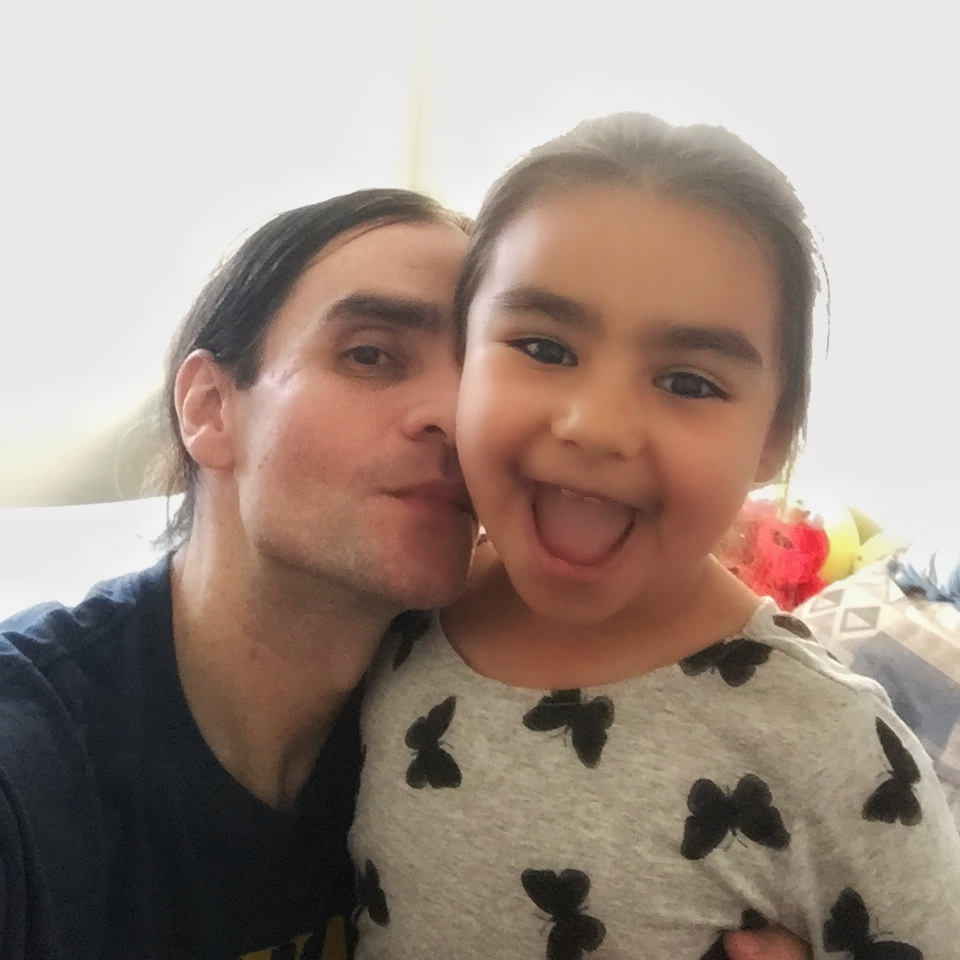 Art Marques and Daughter Zoii Rose, 3EB KIDS