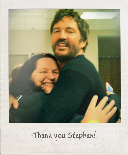 Thank you Stephan for the 2nd best hug of my life!