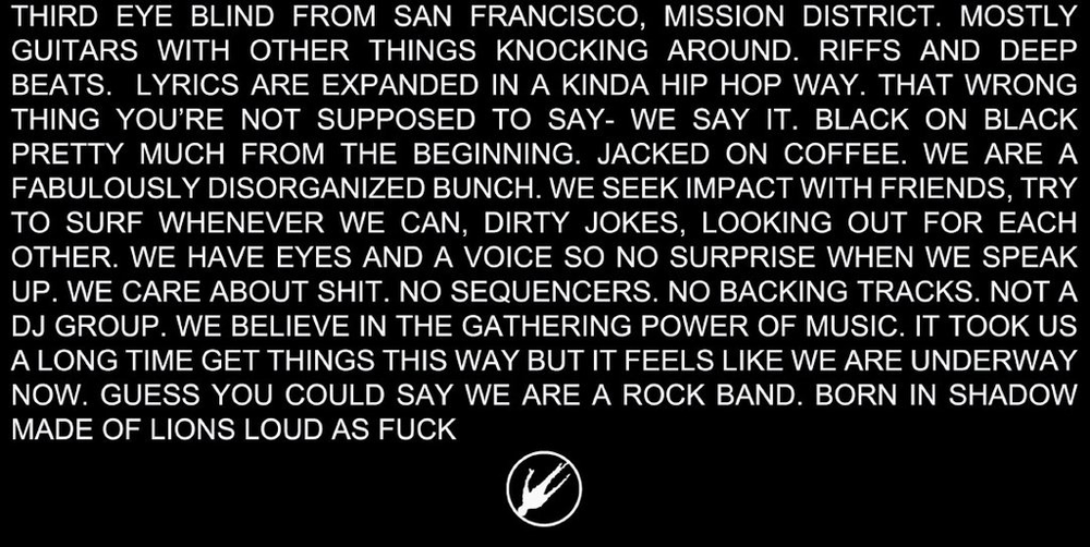 Third Eye Blind's Mission Statement. 3EB Experts Core Values.