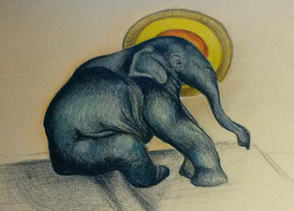 """ELEPHANT"" ARTWORK BY CHARITY BIXLER"