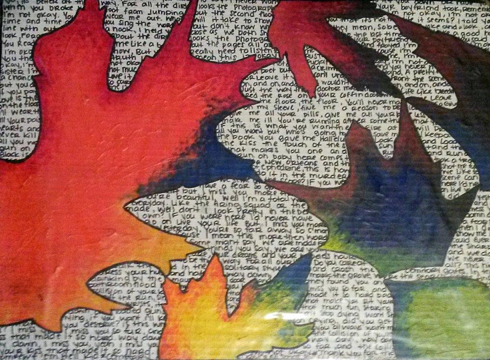 """LEAVES"" ARTWORK BY CHARITY BIXLER"
