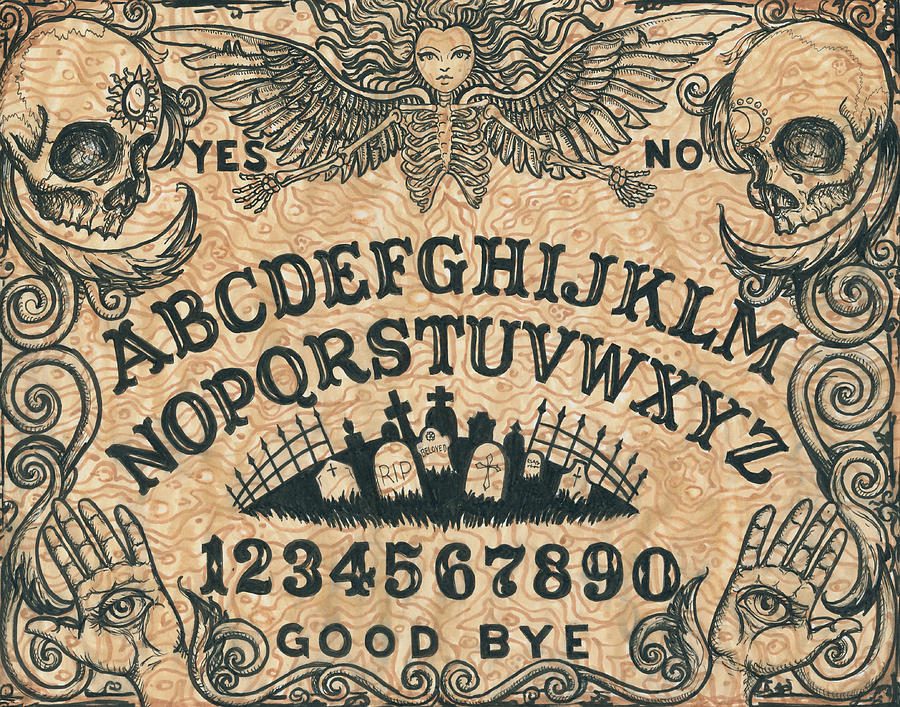 Ouja Painting - Ouija Board by Shayne of the Dead