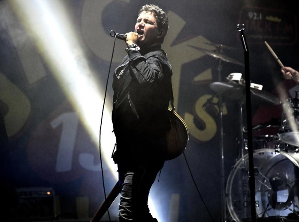 IRVINE, CA - OCTOBER 14: Singer Stephan Jenkins of the band Third Eye Blind performs onstage during the Jack FM 13th annual concert at FivePoint Amphitheatre on October 14, 2018 in Irvine, California. (Photo by Scott Dudelson/Getty Images)GETTY