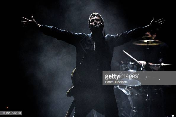 IRVINE, CA - OCTOBER 14:  Singer Stephan Jenkins of the band Third Eye Blind performs onstage during the Jack FM 13th annual concert at FivePoint Amphitheatre on October 14, 2018 in Irvine, California.  (Photo by Scott Dudelson/Getty Images)