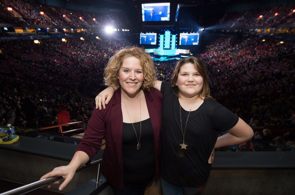 Me and my powerhouse of a daughter, WE Day Vancouver, 2016.