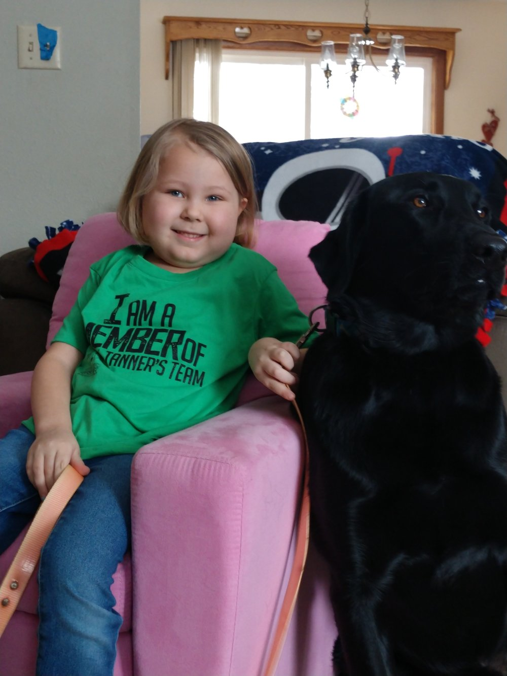 """Thank you Tanner's team for helping with our mortgage payment. Taylor used her special blanket when she went to treatment today."" -"