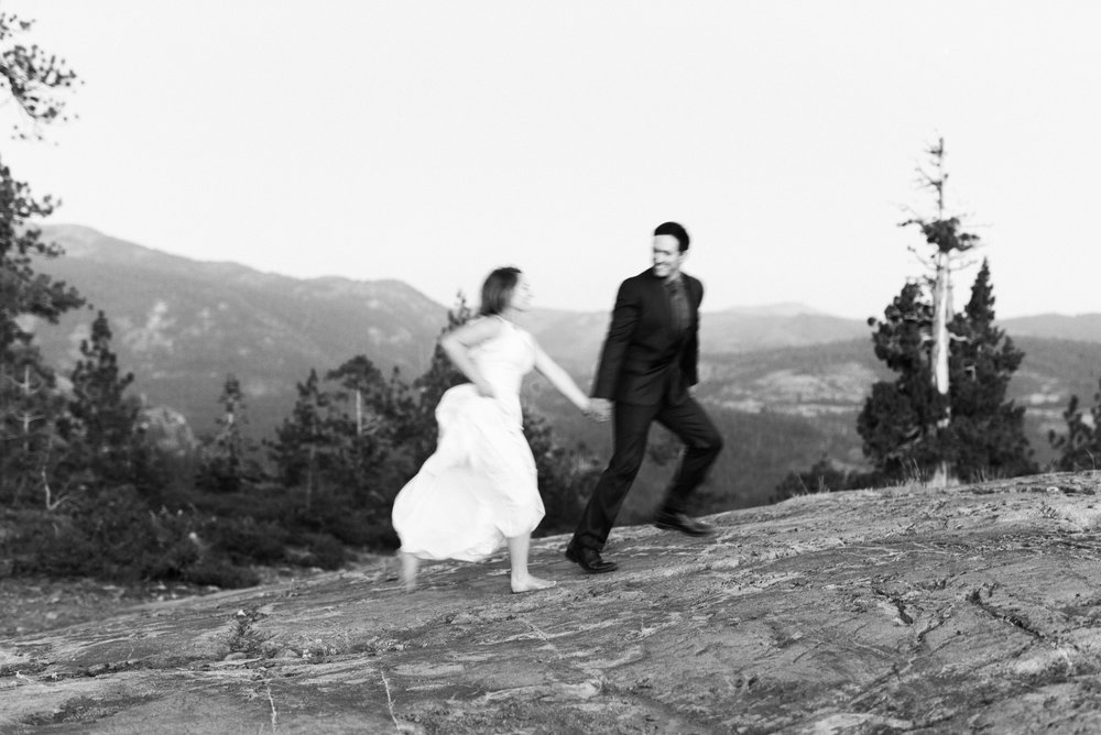 mountain elopement Sierra Nevada mountains