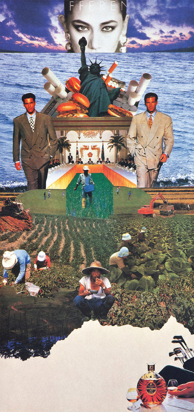"Park Bul-ddong, Farmland, ""there is No Tomorrow,"" 1992. Mixed media, 69 x 33.5cm"