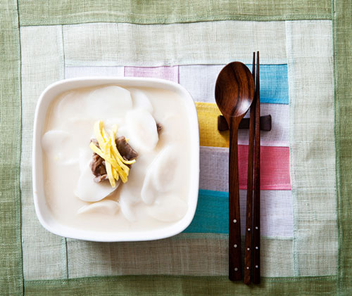 In Korea, eating Tteokguk on New Year's Day is believed to add a year to one's age.