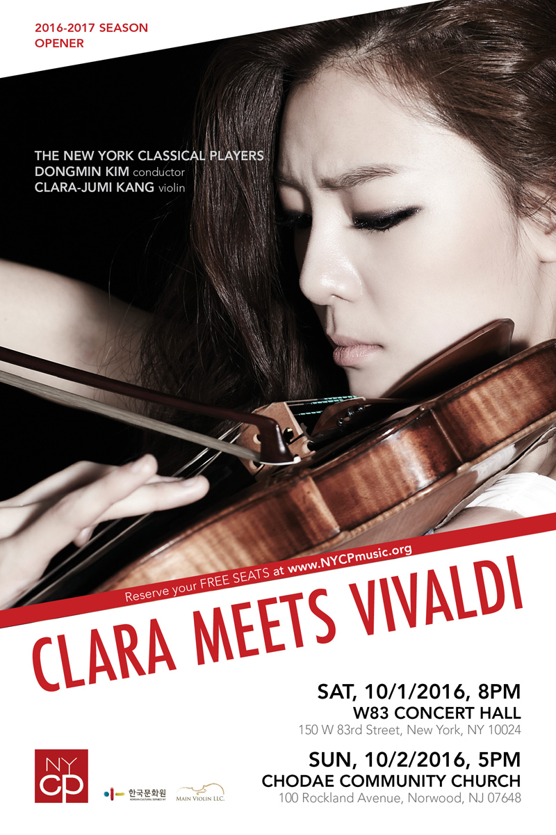 Tickets: Free Admission CLARA-JUMI KANG, violin