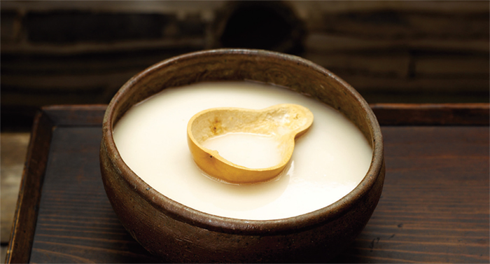 Makgeolli. This rustic alcoholic beverage, which is widely popular in Korea, is made by fermenting steamed rice, barley, or wheat mixed with malt.