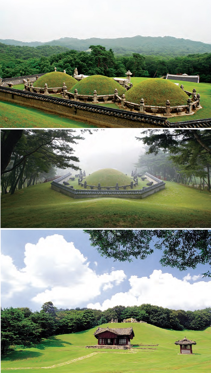 1. Donggureung  A complex of Royal Tombs built for nine Joseon Kings and their seventeen Queens and Concubines.   2. Yeongneung  The tomb of King Sejong and his consort Queen Soheon.   3. Mongneung  The tomb of King Seonjo and his consort Queen Inmok.