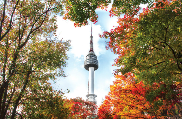 Namsan Seoul Tower, a landmark and top tourist spot in the capital