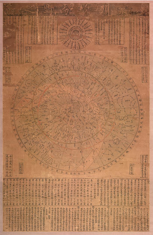 Cheonsang Yeolcha Bunya Jido (Joseon; 17th Century)  This astronomical chart from Joseon shows the constellations.
