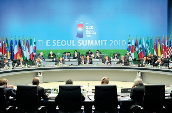 The G20 Summit in Seoul in 2010
