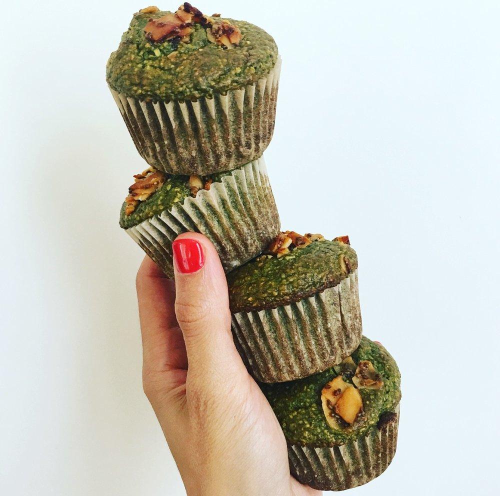 Pineapple Matcha Muffins by Kalejunkie