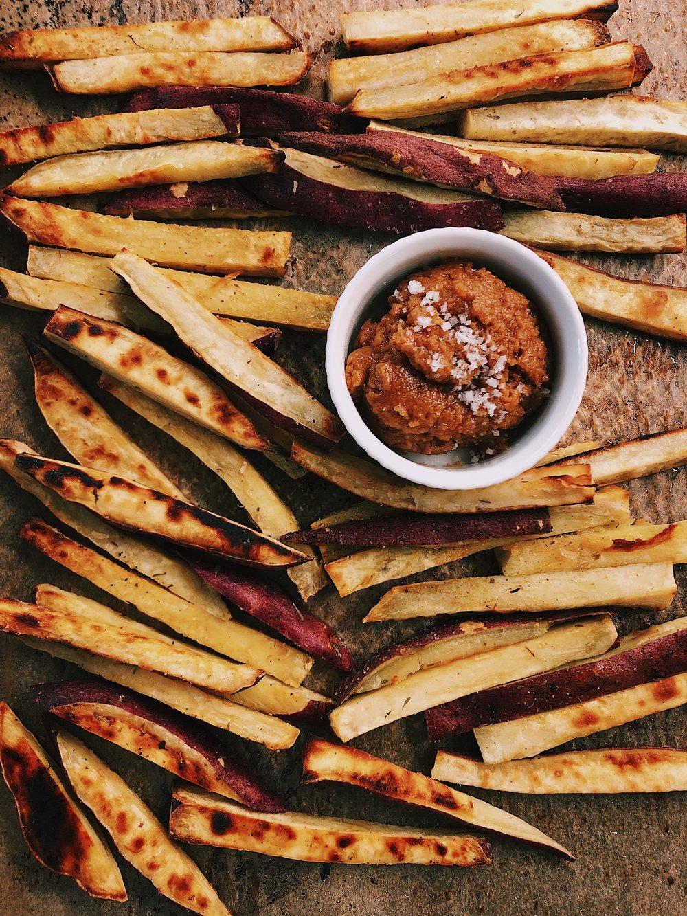 japanese sweet potato oven fries by kalejunkie