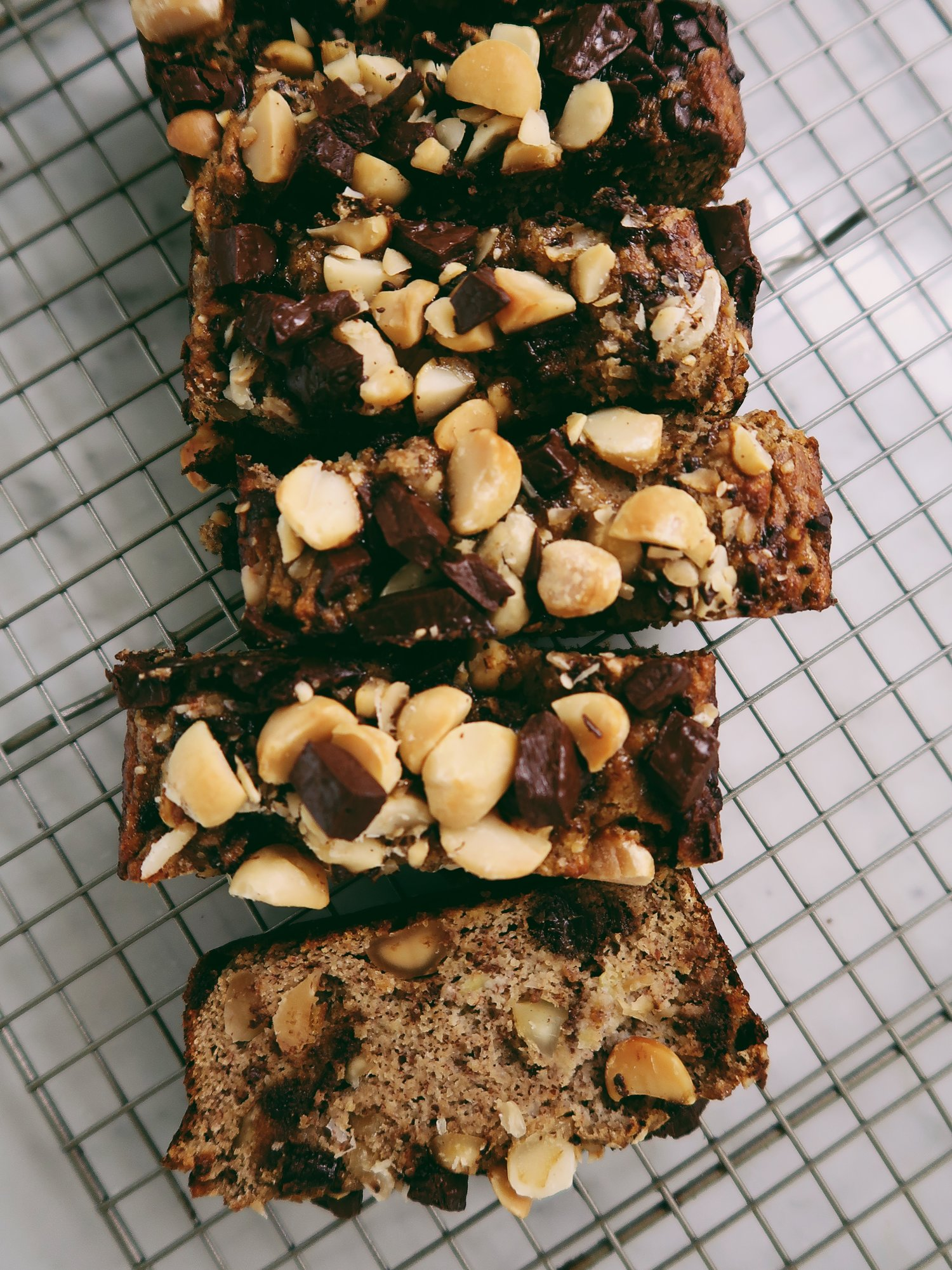 Chocolate Chunk Macadamia Banana Bread Nicole Modic