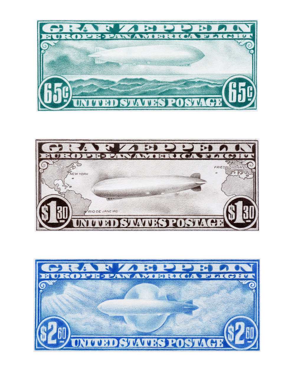 Zeppelin Stamps