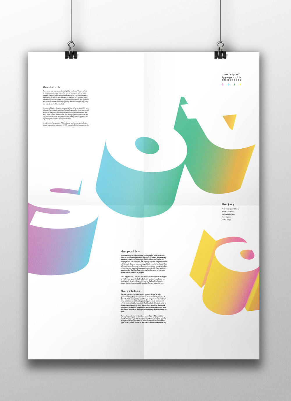 Typographical Poster 2 Mockup