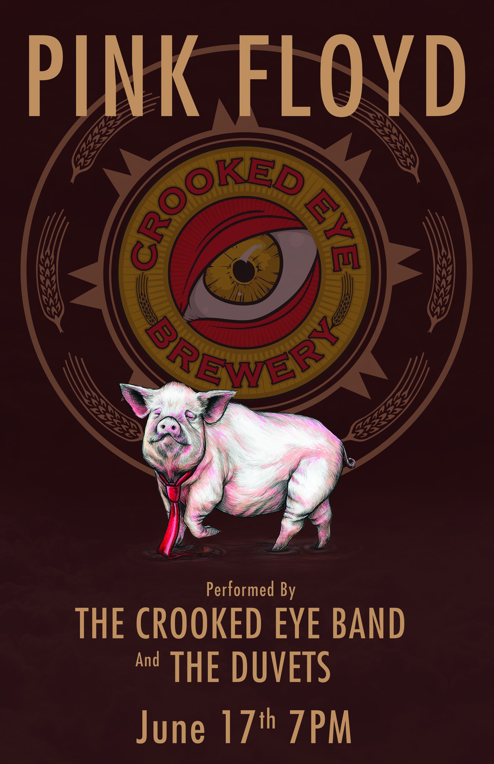 Band Poster for Crooked Eye Brewery