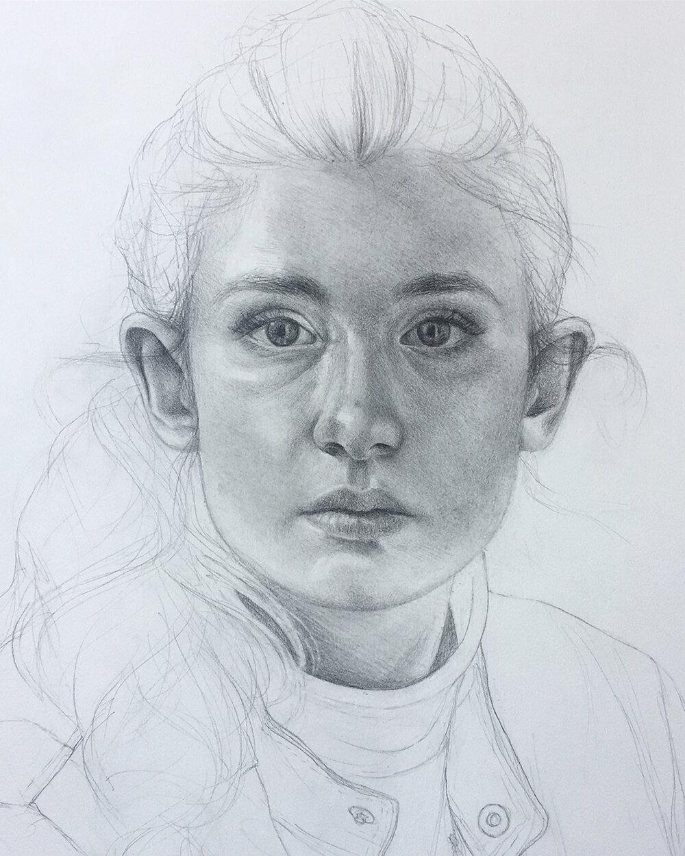 Life-Size Self Portrait (In Progress)