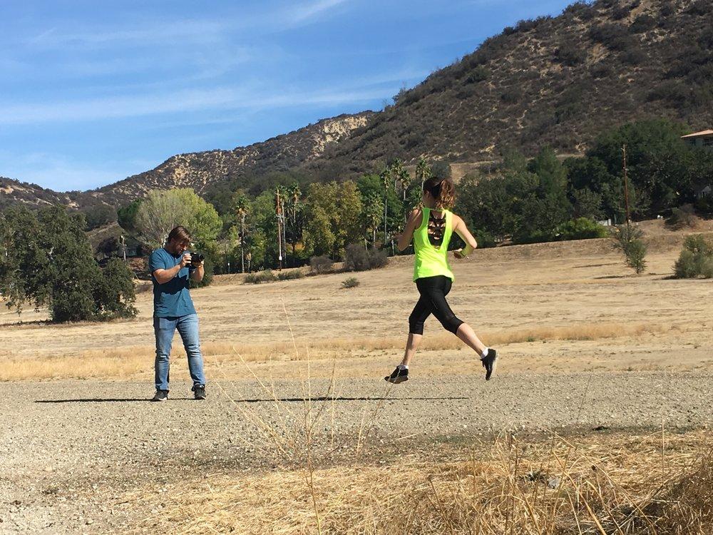 Collaboration with Andrew Jackson showing Kiara's running skills.