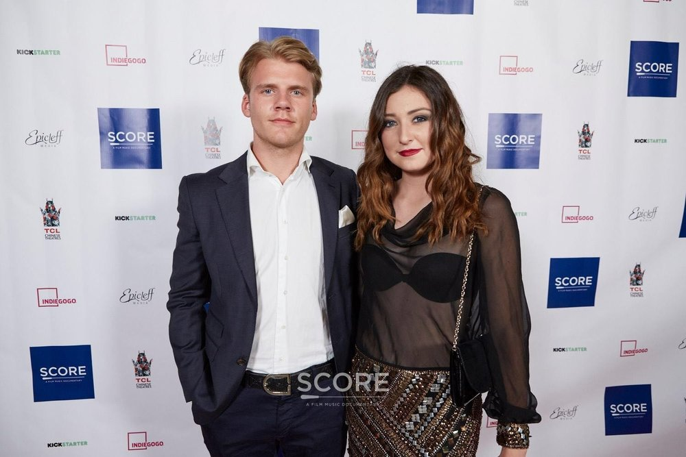 """At the screening of """"Score"""",a film music documentary, with Jonas Olsen."""