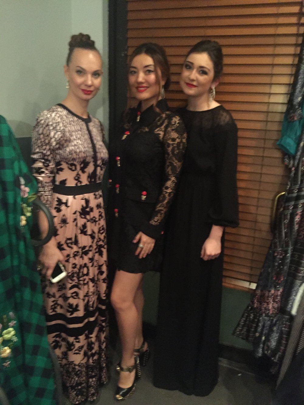 With Miss Kazakhstan, Acelina Kuchukova, and the face of Annie Couture,  Anna Garbuzova.