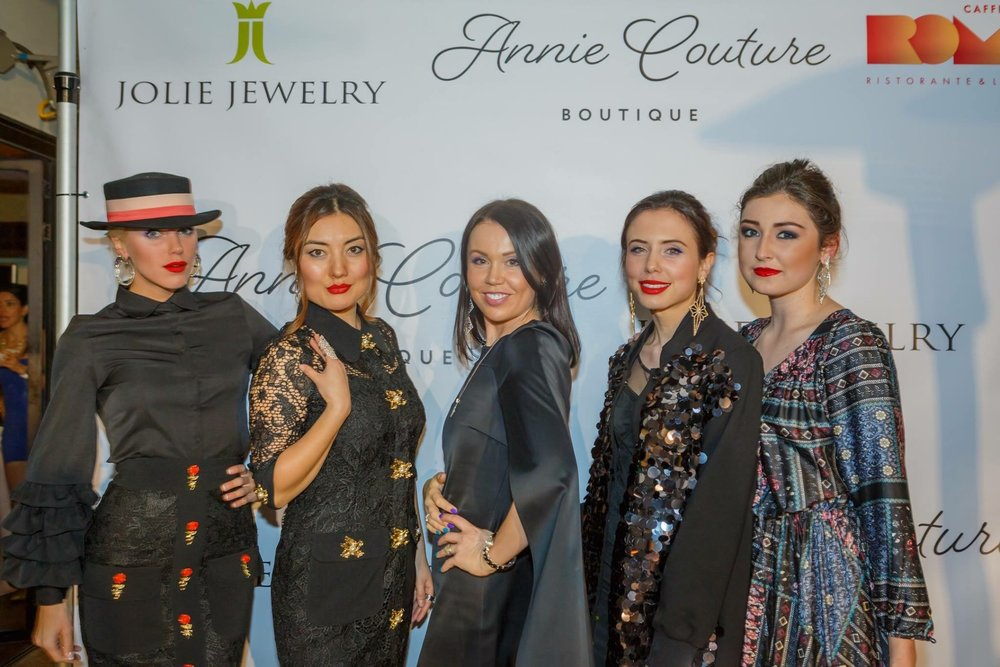 After the Fashion Show for Annie Couture and Jolie Jewelry.