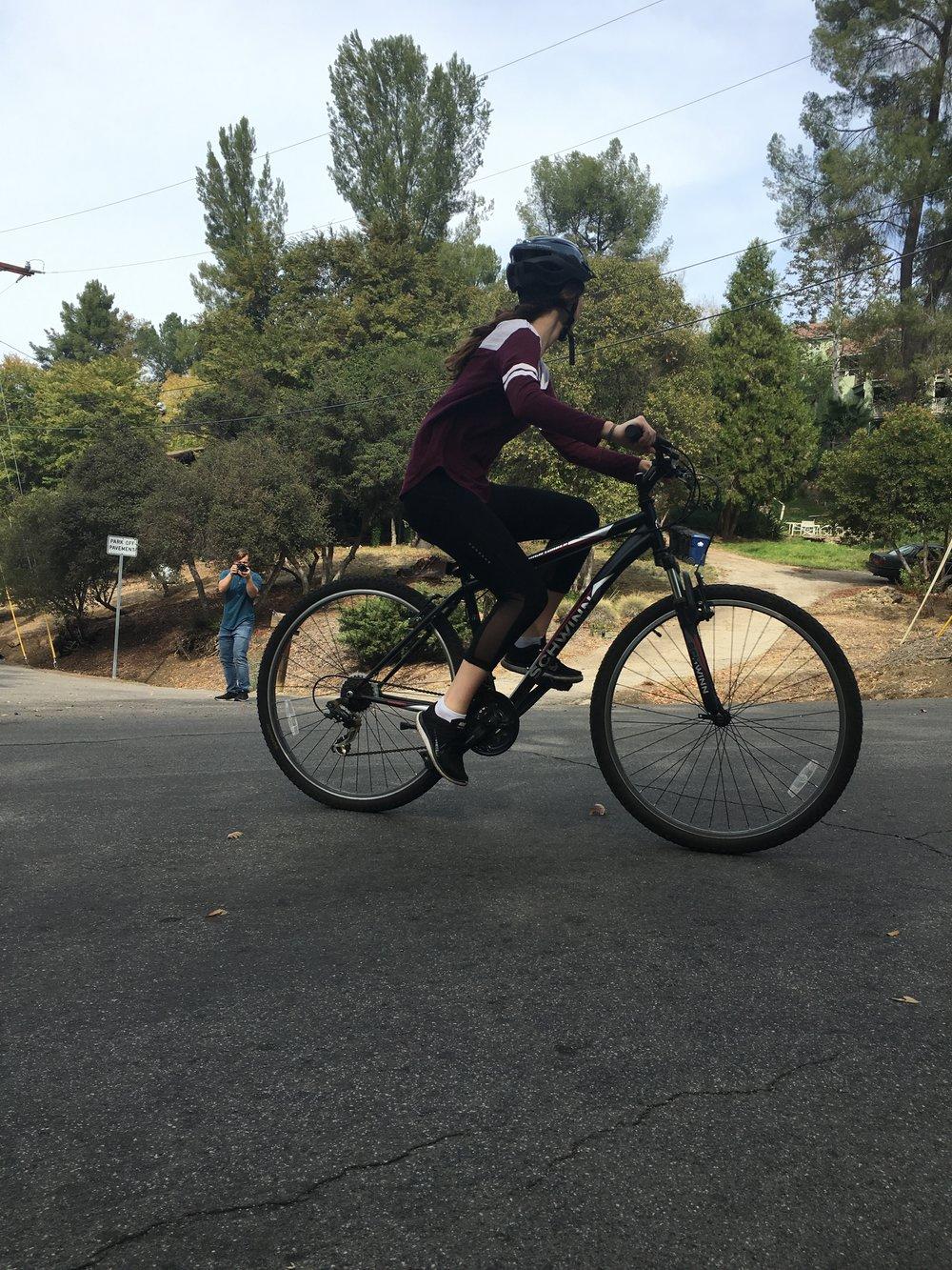 Collaboration with Andrew Jackson showing Kiara's mountain biking skills.