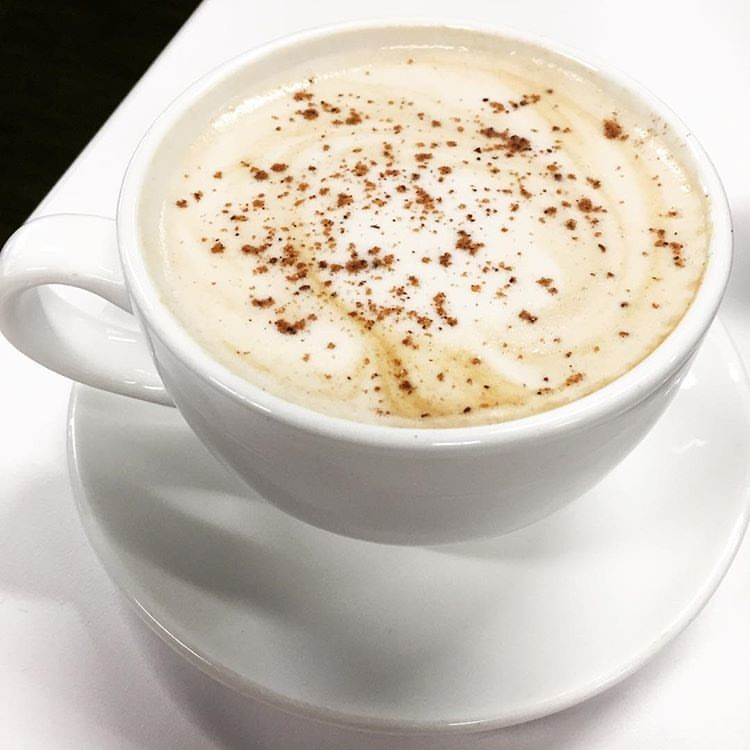 Our hand-crafted pumpkin space latte.