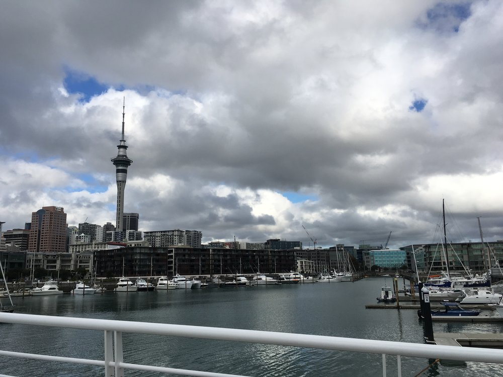 And finally... New Zealand! This is Auckland, the City of Sails. Sky Tower is on the left.