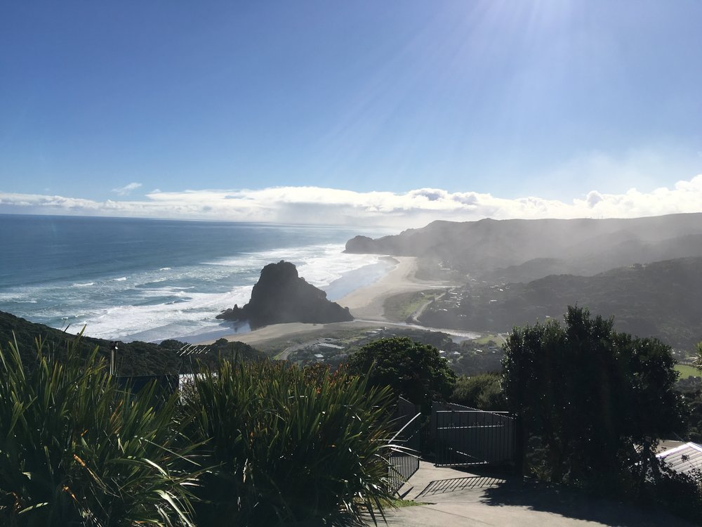 Piha and the infamous Lion Rock.