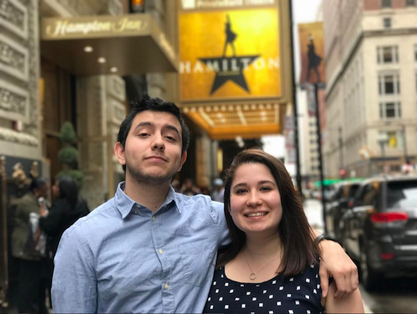 Arturo Zurita and his girlfriend Alinain Chicago.