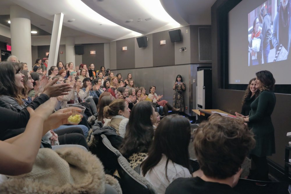 The sold-out screening after the inaugural Women's Weekend Film Challenge, in which 160+ participants made nine films in one weekend.  Photo by Chantal Demoria