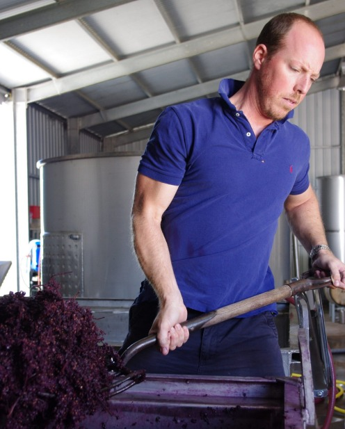 Winemaker Alex Head, at Head Wines in the Barossa.