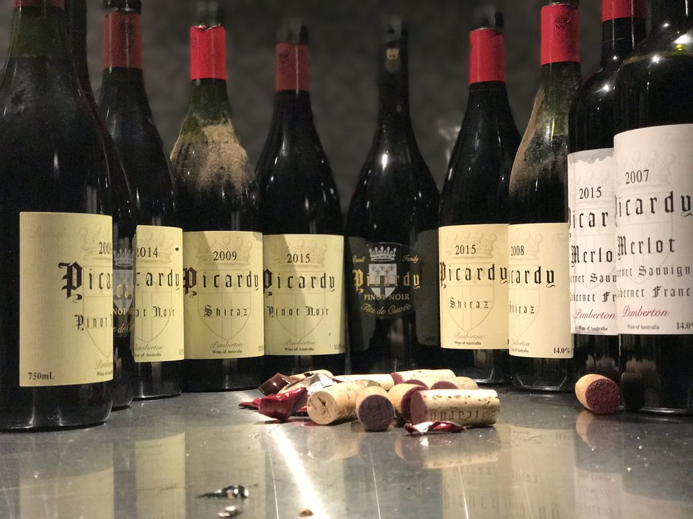 Line up of Picardy wines: 2007 - 2015