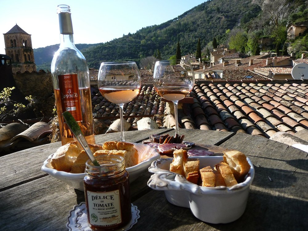 Photo: Some Provençal rosé being enjoyed in the South of France under the sun
