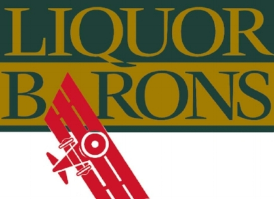 The Red Baron: An Early Liquor Barons Logo.