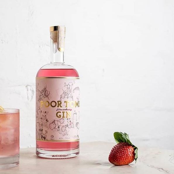 Poor Tom's Strawberry Gin Spritz