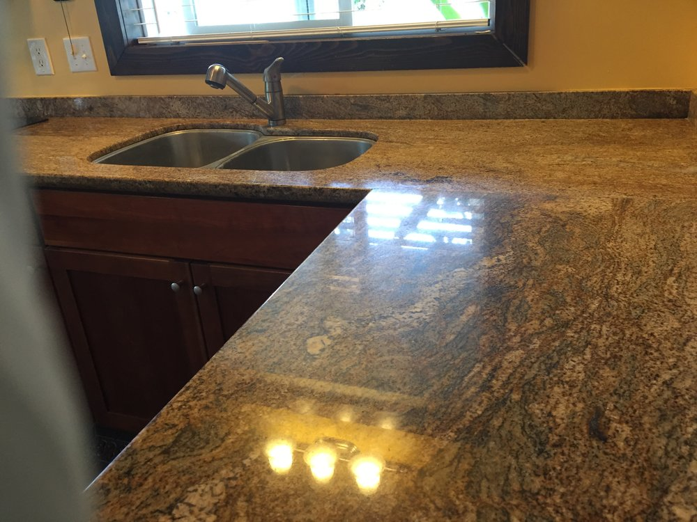 Granite Counter After Polish & Seal