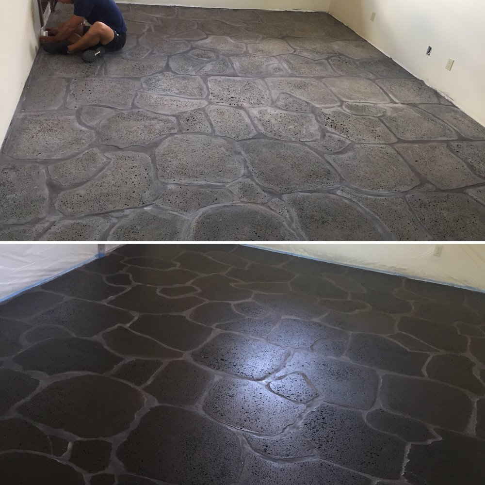 Lava Floor Before & After